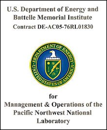 US Department of Energy and Battelle Memorial Institute Prime Contract Cover Page